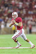 PALO ALTO, CA -  OCTOBER 22:  Brett Nottingham #7 of the Stanford Cardinal looks to pass during a PAC 12 football game against the University of Washington played on October 22, 2011 at Stanford Stadium in Palo Alto, California. (Photo by David Madison/Getty Images) *** Local Caption *** Brett Nottingham