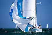 Weatherly sailing in the Nantucket 12 Meter Regatta.