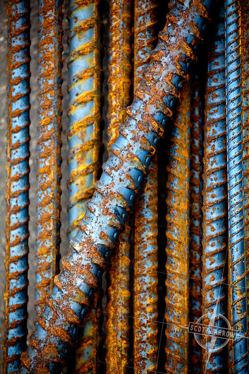 "Steel reinforcing bars ""rebar""."
