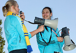 Volunteers before the UEFA EURO 2008 Group D soccer match between Sweden and Russia at Stadion Tivoli NEU, on June 18,2008, in Innsbruck, Austria.  (Photo by Vid Ponikvar / Sportal Images)