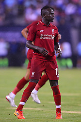 July 25, 2018 - East Rutherford, NJ, U.S. - EAST RUTHERFORD, NJ - JULY 25:   Liverpool forward Sadio Mane (10) during the first half of the International Champions Cup Soccer game between Liverpool and Manchester City on July 25, 2018 at Met Life Stadium in East Rutherford, NJ.  (Photo by Rich Graessle/Icon Sportswire) (Credit Image: © Rich Graessle/Icon SMI via ZUMA Press)