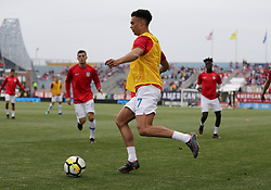 May 28, 2018 - Chester, PA, USA - Chester, PA - Monday May 28, 2018: Antonee Robinson during an international friendly match between the men's national teams of the United States (USA) and Bolivia (BOL) at Talen Energy Stadium. (Credit Image: © John Dorton/ISIPhotos via ZUMA Wire)