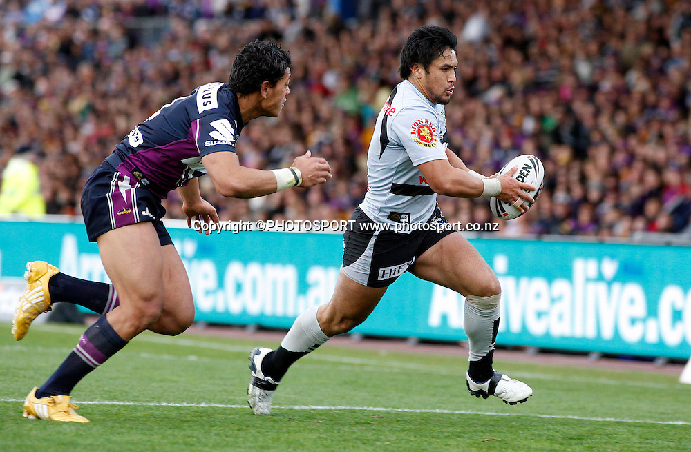 Jerome Ropati heads for the try line.<br />