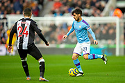 David Silva (#21) of Manchester City on the ball during the Premier League match between Newcastle United and Manchester City at St. James's Park, Newcastle, England on 30 November 2019.