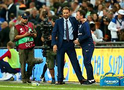England Manager Gareth Southgate celebrates his side's win over Slovakia - Mandatory by-line: Robbie Stephenson/JMP - 04/09/2017 - FOOTBALL - Wembley Stadium - London, United Kingdom - England v Slovakia - 2018 FIFA World Cup Qualifier