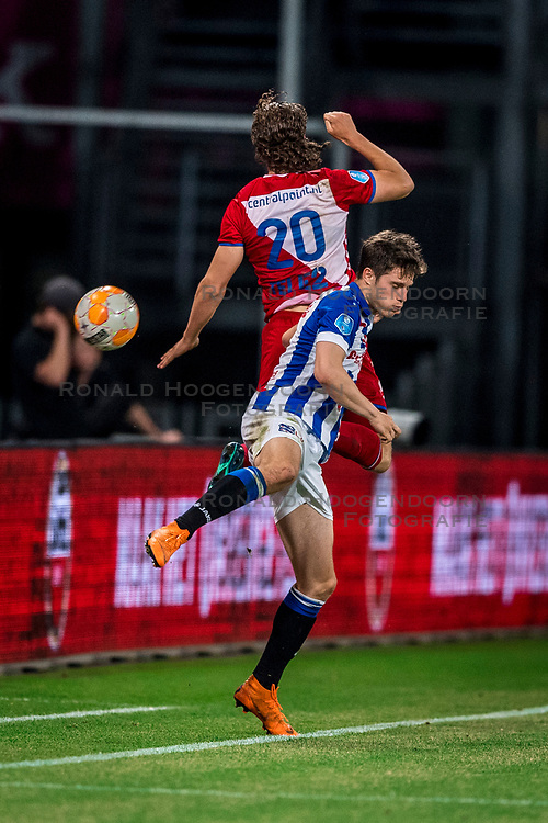 12-05-2018 NED: FC Utrecht - Heerenveen, Utrecht<br /> FC Utrecht win second match play off with 2-1 against Heerenveen and goes to the final play off / Giovanni Troupee #20 of FC Utrecht, Kik Pierie #5 of SC Heerenveen