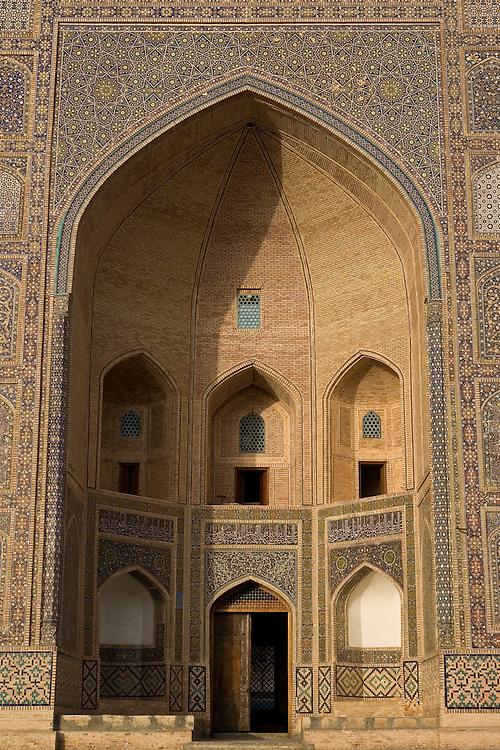 Entrance to Mir-i Arab Medrassa, Bukhara