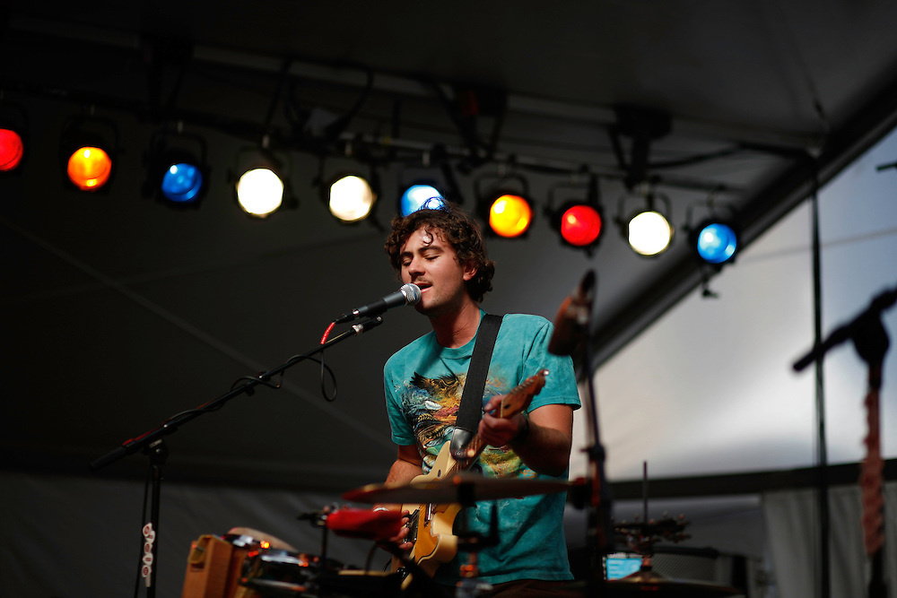 Ryan McPhun of The Ruby Suns performs at the Levis/FADER Fort during the 2008 SXSW music festival in Austin, TX.