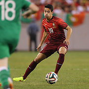André Almeida, Portugal, in action during the Portugal V Ireland International Friendly match in preparation for the 2014 FIFA World Cup in Brazil. MetLife Stadium, Rutherford, New Jersey, USA. 10th June 2014. Photo Tim Clayton
