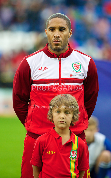 CARDIFF, WALES - Wednesday, August 14, 2013: Wales' captain Ashley Williams before an International Friendly against Republic of Ireland at the Cardiff City Stadium. (Pic by David Rawcliffe/Propaganda)