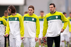 Players during the Slovenia training before friendly match between National teams of Slovenia and ZDA at Kidricevo, on  9th November, 2011 in Ptuj, Slovenia (Photo by Urban Urbanc / Sportida Photo Agency)