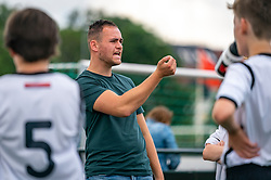 Trainer Coach Cem of VV Maarssen in action. VV Maarssen O14-1 played a friendly game against CDW O15-2. Maarssen won 9-2 on July 11, 2020 at Daalseweide sports park Maarssen.