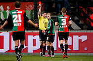 Onderwerp/Subject: NEC - Eredivisie<br /> Reklame:  <br /> Club/Team/Country: <br /> Seizoen/Season: 2012/2013<br /> FOTO/PHOTO: Nathaniel WILL (C) of NEC receives a red card from Referee Jeroen SANDERS (BEHIND). (Photo by PICS UNITED)<br /> <br /> Trefwoorden/Keywords: <br /> #05 #08 $94 ±1355229055132<br /> Photo- & Copyrights © PICS UNITED <br /> P.O. Box 7164 - 5605 BE  EINDHOVEN (THE NETHERLANDS) <br /> Phone +31 (0)40 296 28 00 <br /> Fax +31 (0) 40 248 47 43 <br /> http://www.pics-united.com <br /> e-mail : sales@pics-united.com (If you would like to raise any issues regarding any aspects of products / service of PICS UNITED) or <br /> e-mail : sales@pics-united.com   <br /> <br /> ATTENTIE: <br /> Publicatie ook bij aanbieding door derden is slechts toegestaan na verkregen toestemming van Pics United. <br /> VOLLEDIGE NAAMSVERMELDING IS VERPLICHT! (© PICS UNITED/Naam Fotograaf, zie veld 4 van de bestandsinfo 'credits') <br /> ATTENTION:  <br /> © Pics United. Reproduction/publication of this photo by any parties is only permitted after authorisation is sought and obtained from  PICS UNITED- THE NETHERLANDS