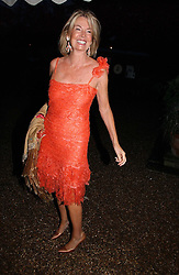 HILARY WESTON at the annual Chelsea Flower Show dinner hosted by jewellers Cartier at the Chelsea Pysic Garden, London on 22nd May 2006.<br />