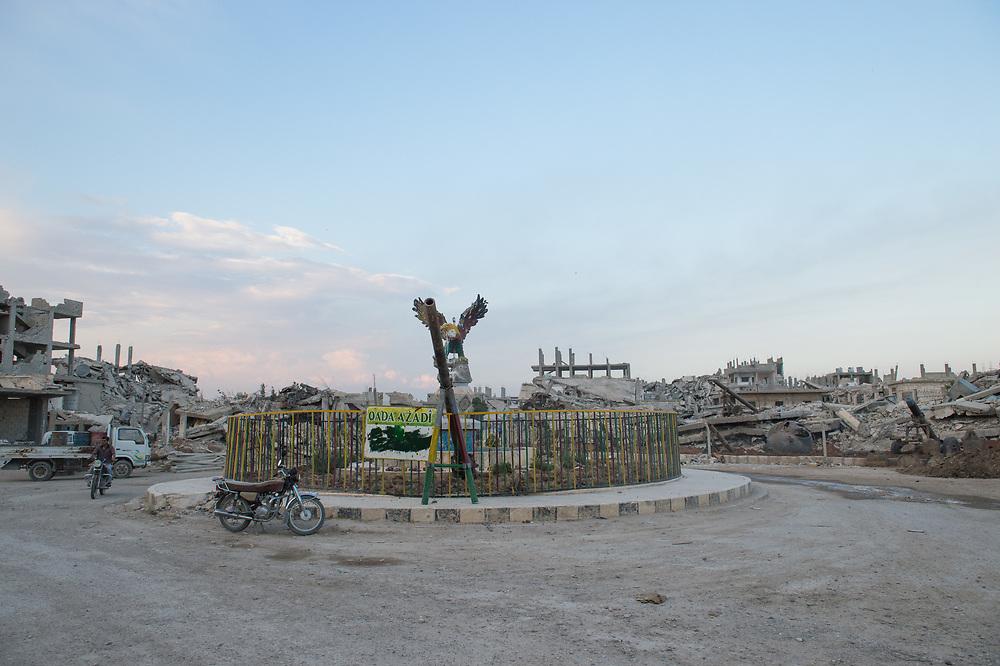 Azadi Square (Freedom Square) in Kobane. Kobanê (Ayn al-Arab), Syria, June 21, 2015