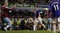 Photo: Paul Thomas.<br /> Everton v West Ham United. The Barclays Premiership. 03/12/2006.<br /> <br /> Leon Osman of Everton scores.