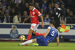 December 1, 2017 - Porto, Porto, Portugal - Benfica's Argentinian forward Toto Salvio (L) with Porto's Spanish defender Ivan Marcano (R) during the Premier League 2016/17 match between FC Porto and SL Benfica, at Dragao Stadium in Porto on December 1, 2017. (Credit Image: © Dpi/NurPhoto via ZUMA Press)