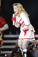 """NICE, FRANCE - August 21 : Madonna Performs for the """"MDNA TOUR"""" at Charles Ehrmann Stadium on August 21, 2012 in Nice, France.(Photo by Tony Barson/BarsonImages)"""