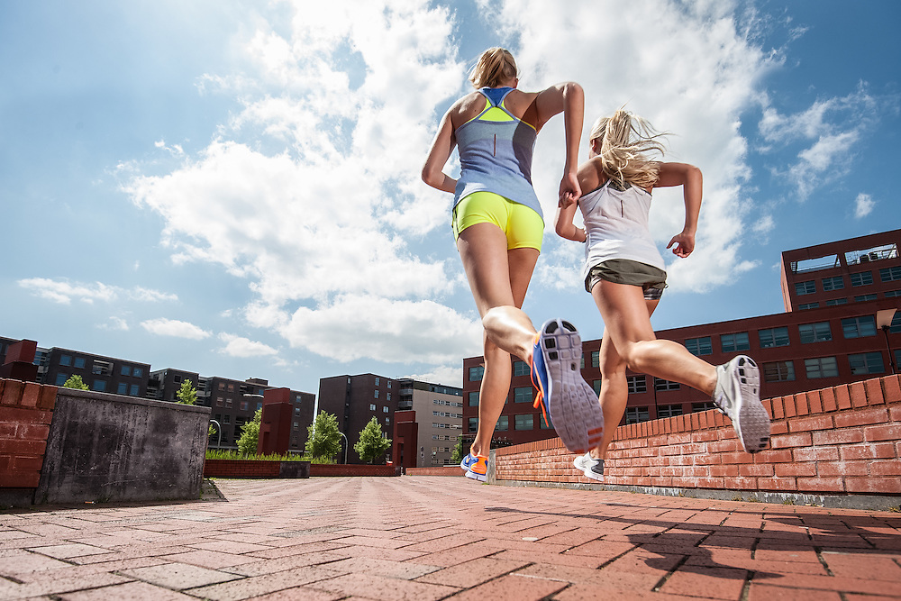 Photoshoot to promote the Nike Free running shoe