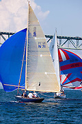 Flapper and Alana, 6 Meter class, sailing in the Robert H. Tiedemann Classic Yachting Weekend race 1.