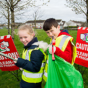 04.04.2017         <br /> St. Brigids National School, Singland Limerick were off the mark early for TLC3. <br /> Pictured during the clean up were, Alannah O'Connor and Jamie English. Picture: Alan Place