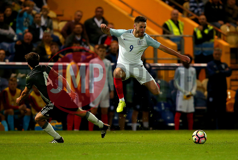 Ben Brereton of England goes past Tom Baack of Germany Under 19s - Mandatory by-line: Robbie Stephenson/JMP - 05/09/2017 - FOOTBALL - One Call Stadium - Mansfield, United Kingdom - England U19 v Germany U19 - International Friendly