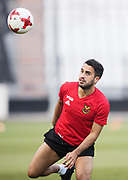 THESSALONIKI, GREECE - AUGUST 16: Brwa Nouri of Oestersunds FK during training ahead of the UEFA Europa League Qualifying Play-Offs round first leg match between PAOK Saloniki and &Ouml;stersunds FK at Toumba Stadium on August 16, 2017 in Thessaloniki, Greece. Foto: Nils Petter Nilsson/Ombrello<br /> ***BETALBILD***
