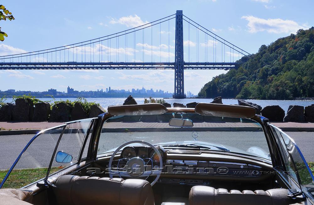 George Washington Bridge and Mercedes