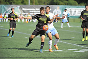 Stevenson University men's soccer dropped their home opener 2-4 to the Baruch Bearcats on Saturday evening at Mustang Stadium in Owings Mills.