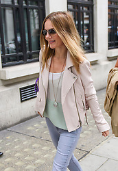 © Licensed to London News Pictures. 19/07/2017. London, UK. Former Spice Girl GERI HORNER (nee Halliwell) pictured leaving BBC radio studios in London. Photo credit: London News Pictures.