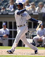 CHICAGO - APRIL 09:  Yandy Diaz #2 of the Tampa Bay Rays bats against the Chicago White Sox on April 9, 2019 at Guaranteed Rate Field in Chicago, Illinois.  (Photo by Ron Vesely)  Subject:   Yandy Diaz