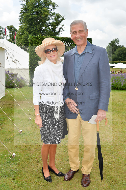 GARTH BEARMAN and his wife at the Cartier hosted Style et Lux at The Goodwood Festival of Speed at Goodwood House, West Sussex on 26th June 2016.