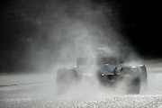 February 26, 2017: Circuit de Catalunya.  Romain Grosjean (FRA), Haas F1 Team, VF17 during the Pirelli wet weather tire test.