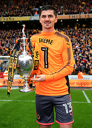 Free to use courtesy of Sky Bet - Harry Burgoyne of Wolverhampton Wanderers celebrate after lifting the Sky Bet Championship 2017/18 league trophy - Mandatory by-line: Matt McNulty/JMP - 28/04/2018 - FOOTBALL - Molineux - Wolverhampton, England - Wolverhampton Wanderers v Sheffield Wednesday - Sky Bet Championship