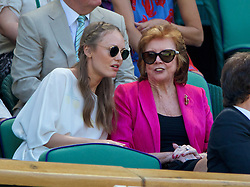 LONDON, ENGLAND - Thursday, July 3, 2014: Cilla Black in the Royal Box during the Ladies' Singles Semi-Final match on day ten of the Wimbledon Lawn Tennis Championships at the All England Lawn Tennis and Croquet Club. (Pic by David Rawcliffe/Propaganda)