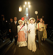 Parade<br /> music &amp; lyrics by Jason Robert Brown <br /> Book by Alfred Uhry<br /> conceived by Harold Prince <br /> at The Southwark Playhouse, London, Great Britain <br /> 11th August 2011 <br /> Press photocall <br /> <br /> directed by Danielle Tarento <br /> <br /> Laura Pitt-Pulford (as Lucille Frank)<br /> <br /> and <br /> <br /> Company <br /> <br /> Photograph by Elliott Franks