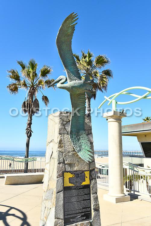 Lifeguard Memorial Pelican Sculpture Huntington Beach