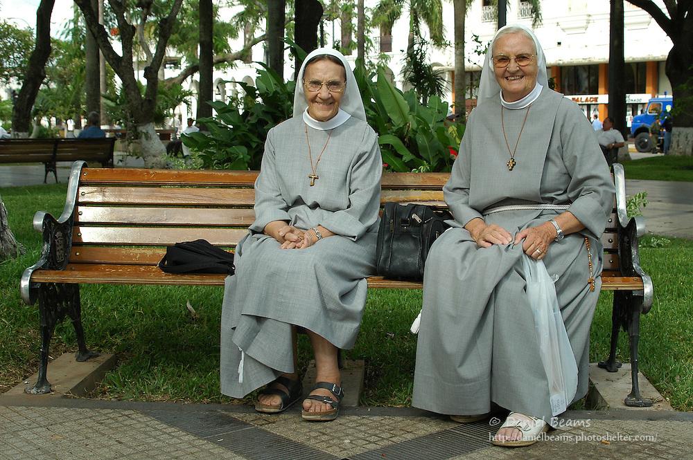 Nuns on the plaza, Santa Cruz Bolivia