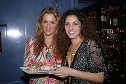Vanya Strok and Nargess Gharani. 'Pret-a-Portea'M.A.C. launches High Tea collection with British fashion designers. Berkeley Hotel. 17 January 2004. ONE TIME USE ONLY - DO NOT ARCHIVE  © Copyright Photograph by Dafydd Jones 66 Stockwell Park Rd. London SW9 0DA Tel 020 7733 0108 www.dafjones.com