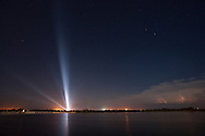 CAPE CANAVERAL, FL - SEPTEMBER 8:  Space Shuttle Atlantis, bathed in powerful floodlights, sits on launch pad 39-b in preparation for launch today at Cape Canaveral, Florida on September 8, 2006. Atlantis is scheduled to fly its mission to the International Space Station. (Photo by Matt Stroshane/Getty Images)