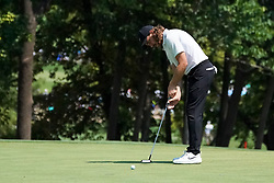 August 10, 2018 - St. Louis, Missouri, United States - Tommy Fleetwood putts the 9th green during the second round of the 100th PGA Championship at Bellerive Country Club. (Credit Image: © Debby Wong via ZUMA Wire)