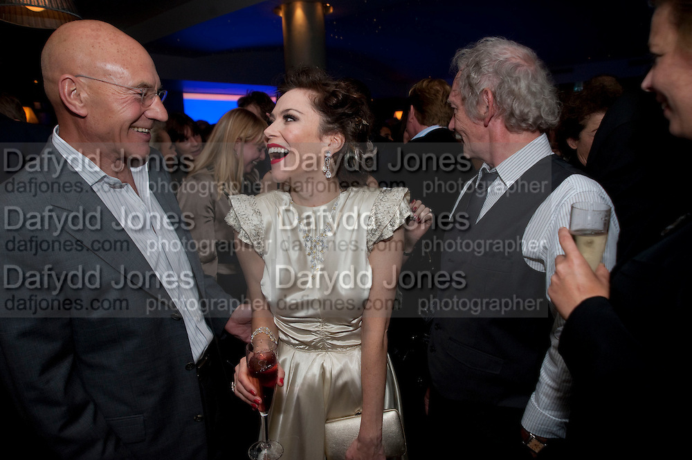PATRICK STEWART; ANNA FRIEL, The afterparty following the press night of 'Breakfast At Tiffany's' The Swimming pool,  Haymarket Hotel, London. September 29  2009.