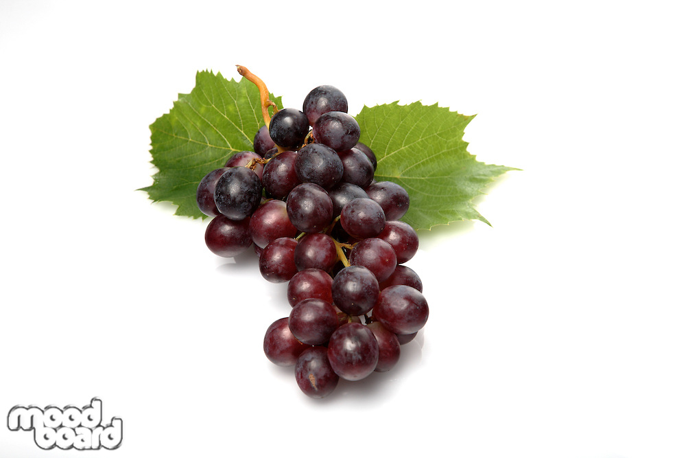 Grapes on white background - close-up