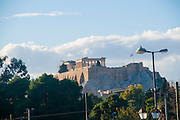 Greece, Athens, Acropolis hill as seen from the east