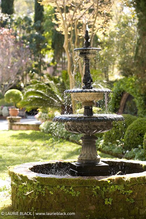 Classic garden fountain.