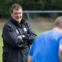 St Johnstone Training...15.08.14<br /> Manager Tommy Wright pictured watching training this morning ahead of tomorrow's match at Hamilton.<br /> Picture by Graeme Hart.<br /> Copyright Perthshire Picture Agency<br /> Tel: 01738 623350  Mobile: 07990 594431