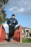 Ricky Hatton prepares for his upcoming fight with Floyd Mayweather, running in Vegas Park. Las Vegas, Nevada, 1st December 2007.....*** EXCLUSIVE IMAGES - MINIMUM USAGE £250 PER USAGE ***