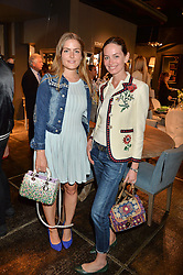 Left to right, the HON.PHILIPPA CADOGAN and YANA MAX at a party to celebrate the publication of 'Feeding The Future' by Lohralee Astor and Tali Shine held at OKA, 155-167 Fulham Road, London on 8th June 2016.