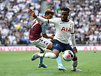 Football - 2019 / 2020 Premier League - Tottenham Hotspur vs. Aston Villa<br /> <br /> Tottenham Hotspur's Danny Rose holds off the challenge from Aston Villa's Trezeguet, at The Tottenham Hotspur Stadium.<br /> <br /> COLORSPORT/ASHLEY WESTERN