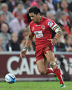Digby Ioane runs back to retrieve the loose ball ~ Super 15 rugby (Round 15) - Reds v Crusaders played at Suncorp Stadium, Brisbane, Australia on Sunday 29th May 2011 ~ Photo : Steven Hight (AURA Images) / Photosport